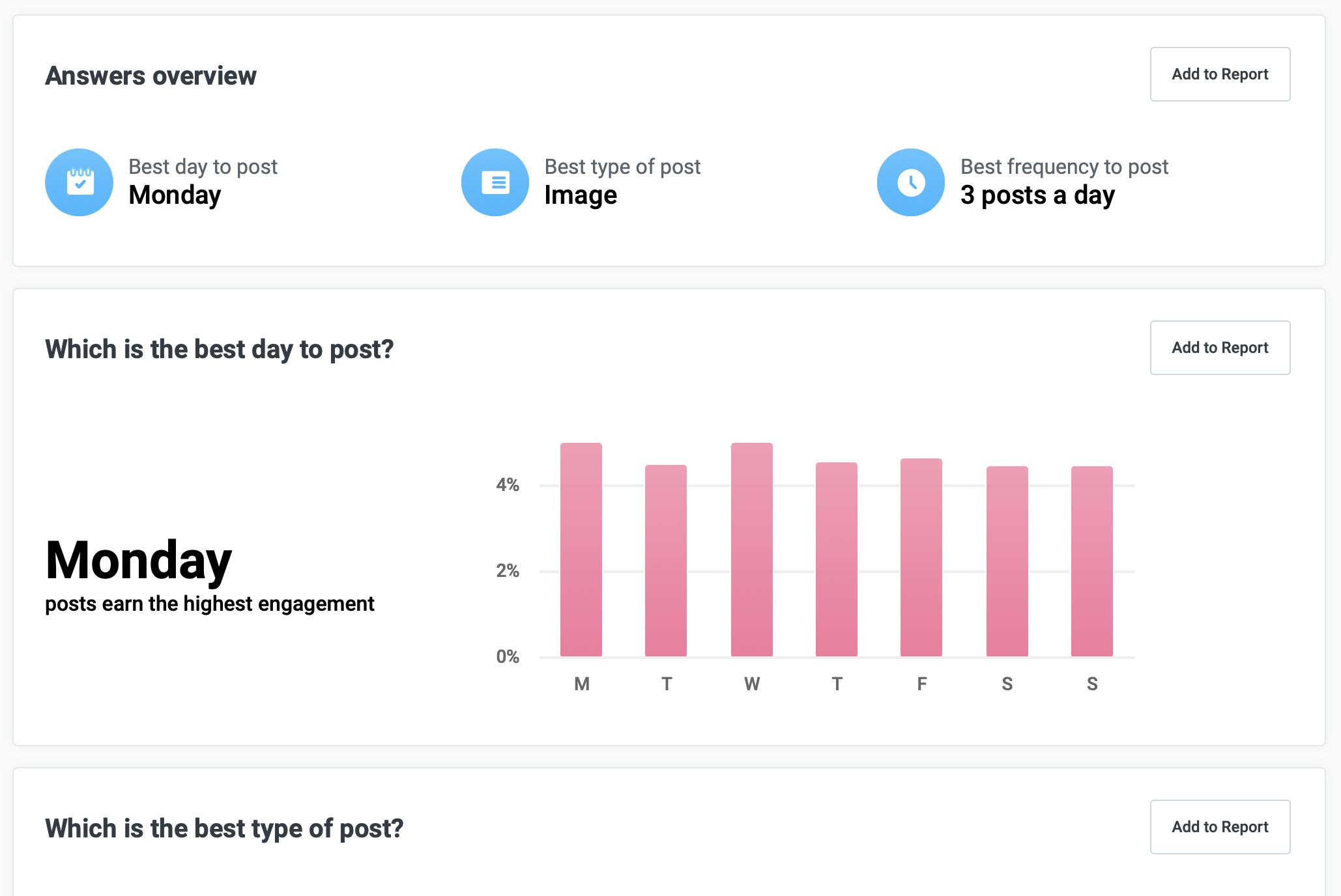Social media analytics answers