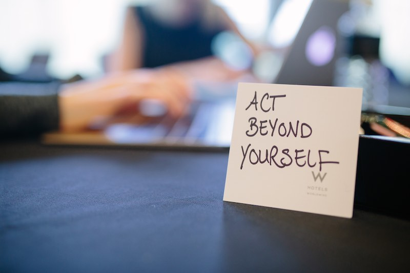 Act beyond yourself, one of Buffer values