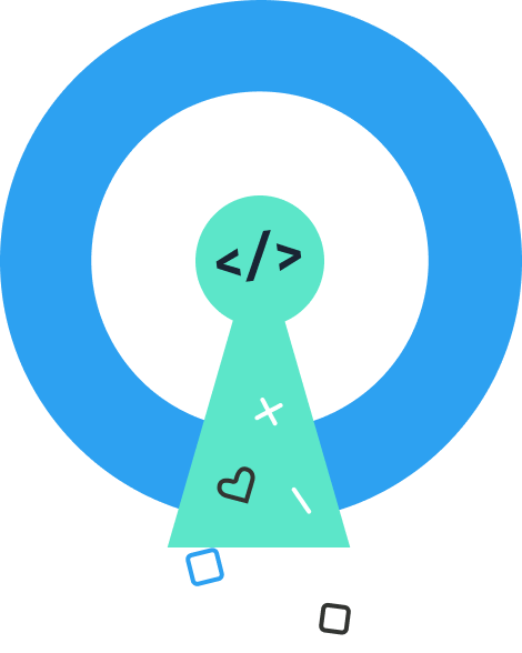 Icon representing open source code