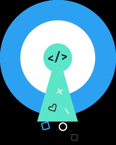 Icon representing open source code