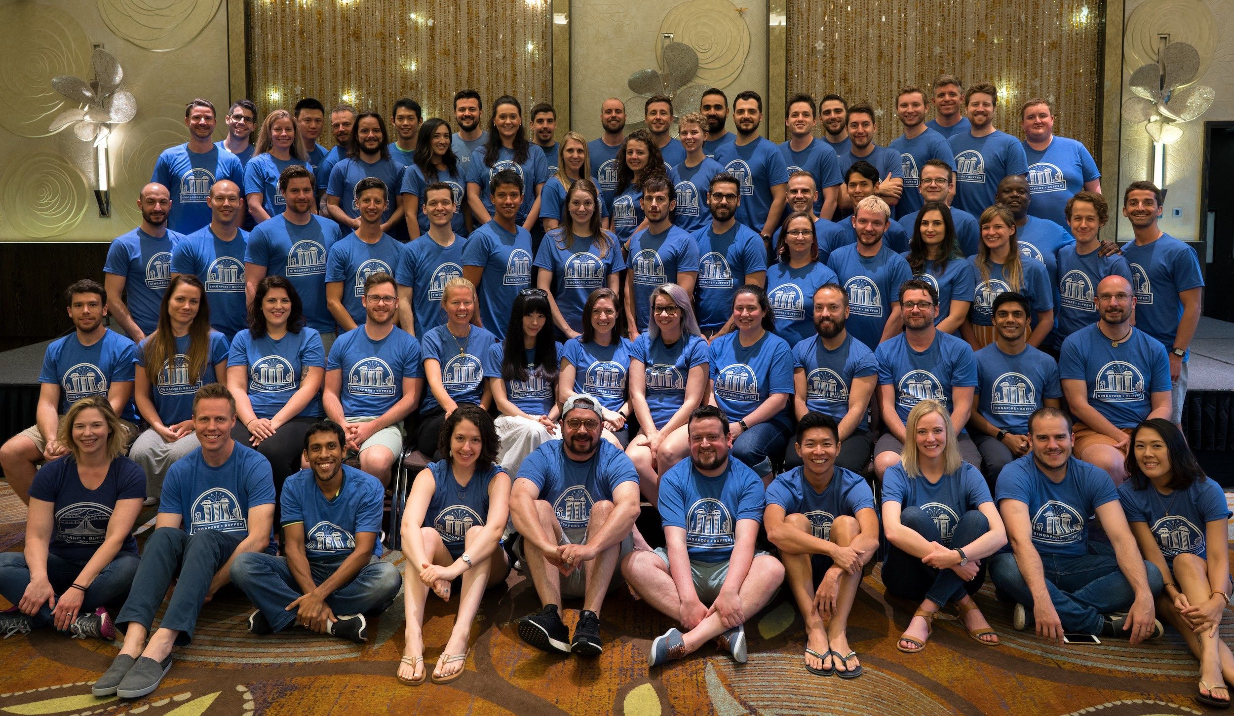 The buffer team at the retreat in Singapore