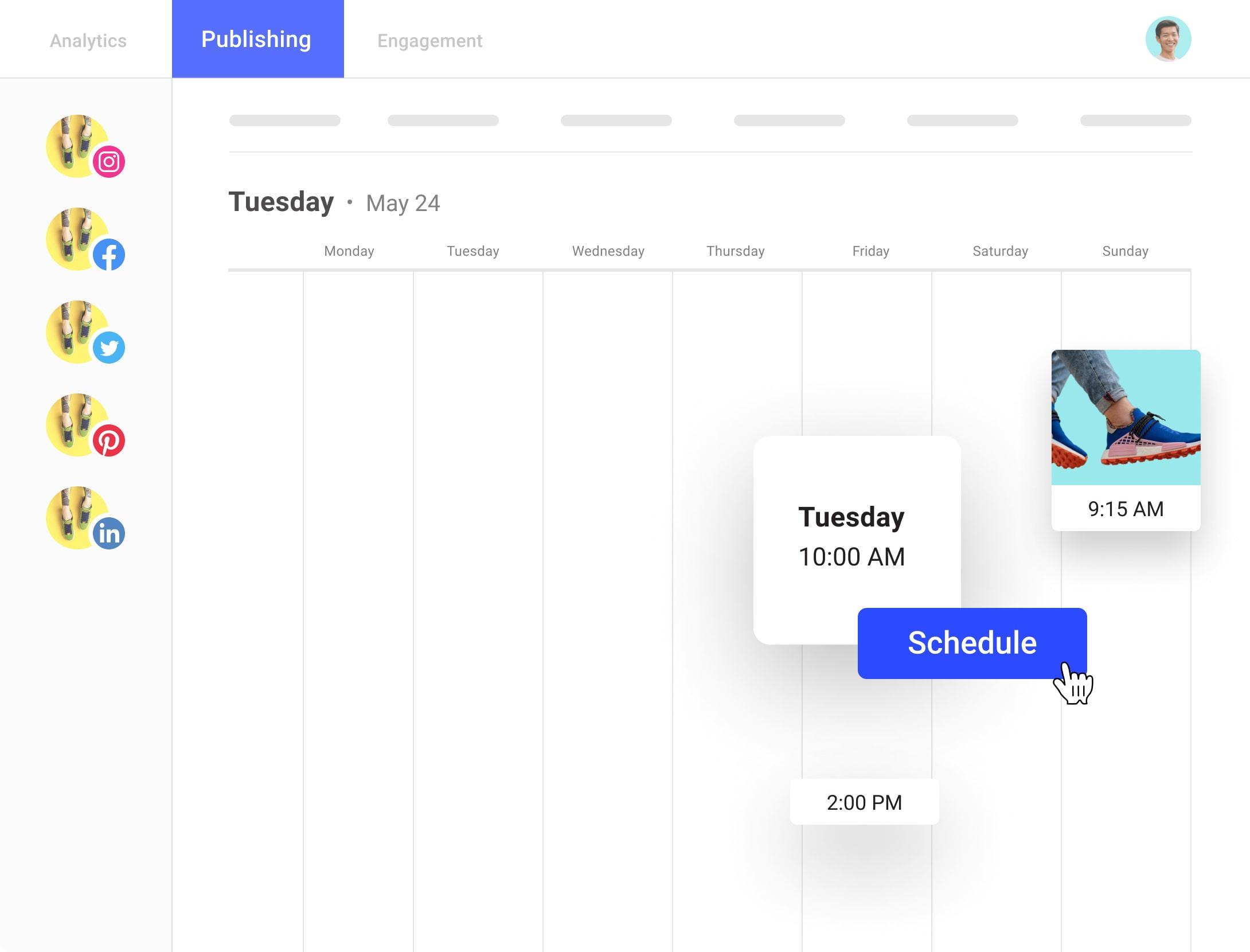 Illustration of Buffer's social media planning and publishing tool