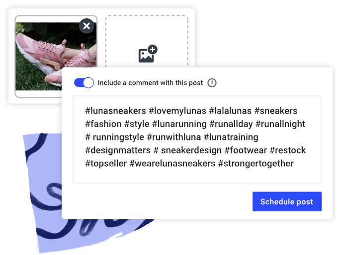 Instagram first comment feature in Buffer Publish composer
