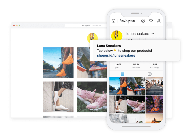 Instagram Shop grid in Buffer Publish dashboard