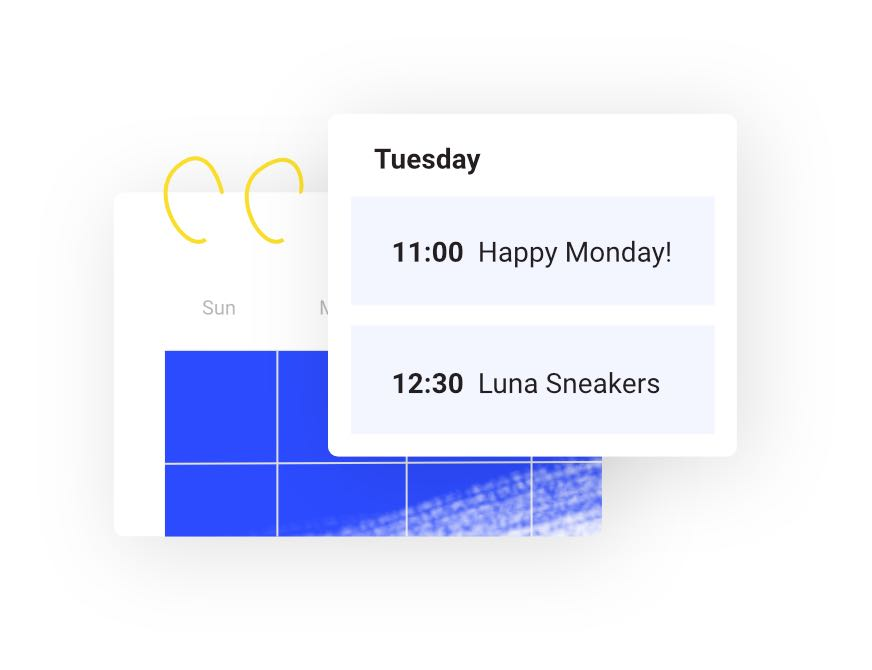 Illustration of Buffer's calendar feature
