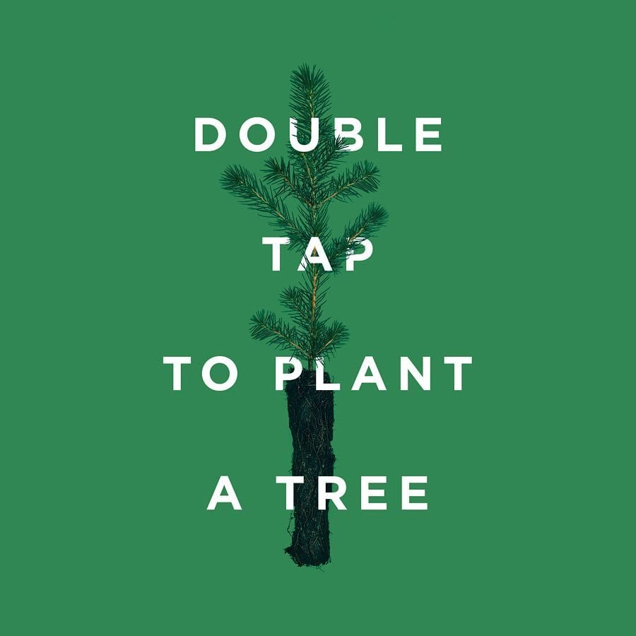 Double tap to plant tree image